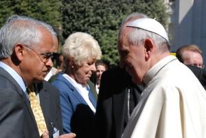 Ramanthan con Papa Francesco