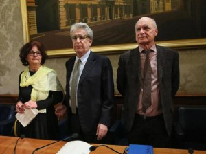 Da sinistra, Claudia Regeni, Luigi Manconi e Paolo Regeni