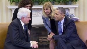 Washington, 8 febbraio 2016, incontro Sergio Mattarella con Barak Obama