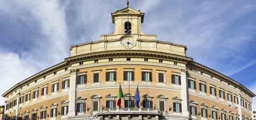 Roma,Palazzo Montecitorio, sede della Camera dei Deputati