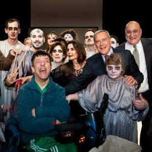 Dario D'Ambrosio con Piero Grasso e gli studenti - attori