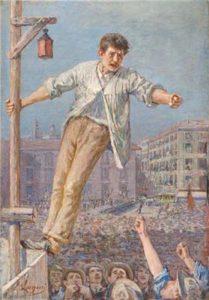 """""""L'oratore dello sciopero"""", Emilio Longoni. Brera 1891"""
