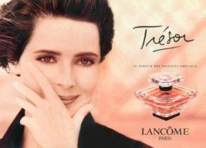 Isabella Rossellini nella campagna pubblicitaria degli anni '80