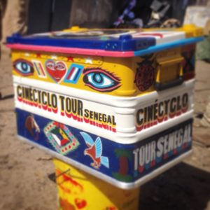 La scatola magica del cinècyclo tour Senegal