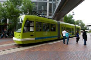 Tram della città di Portland