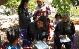 Libano, campo di bambini profughi
