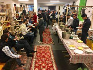 Cena organizzata dai rifugiati siriani il 19 febbraio 17
