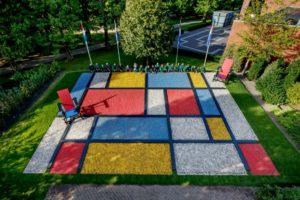 Keukenhof mosaico di Mondrian