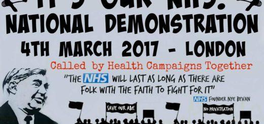 Manifestazione Londra per sanità pubblica