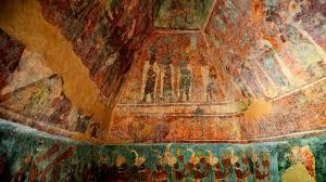 Affresci superiori del Tempio dei Maya