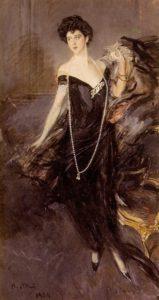 Ritratto di Danna Franca Florio figura intera