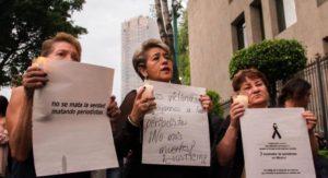 La piazza per i giornalisti messicani