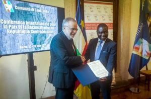 Reppubblica Centrafricana atto di pace Ricciardi