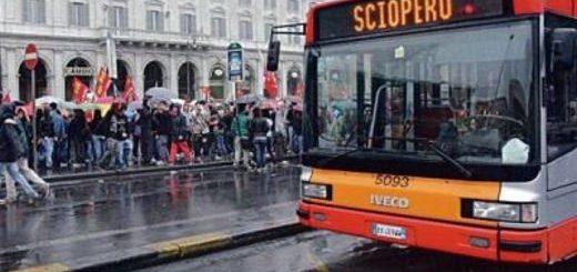 Scipero mezzi pubblici Roma