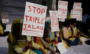 India - annullato il triplice Talaq manifestazione