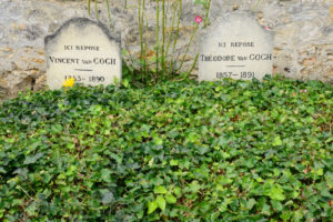 Ile de France, the Vincent Van Gogh tomb in Auvers sur Oise