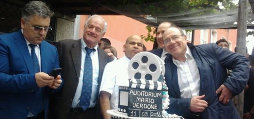 Carlo Verdone inaugurazione auditorium Guidonia