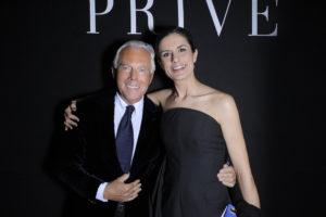 Giorgio Armani e Livia First
