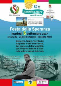 Locandina Festa Speranza - Fondazione Vassallo
