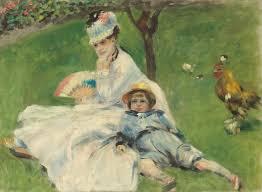 Reanoir Madame Monet e il figlio - Collezione Monet