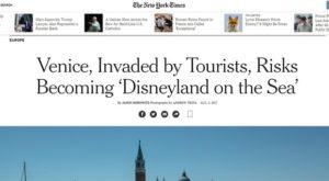 Testata NYT Venezia
