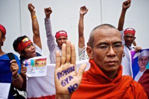 manifestazione contro i rohingya
