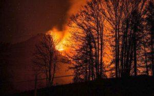 Incendio Val di Susa