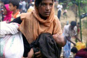 Rohingya donna e bambino